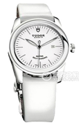帝舵骏珏系列53010w-White patent leather strap