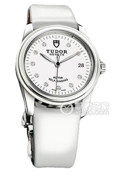 帝舵骏珏系列55010w-White patent leather strap