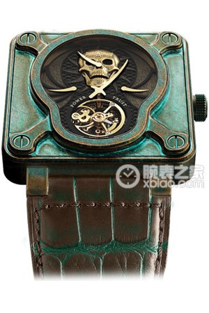 柏萊士INSTRUMENTS BR01 Skull Bronze Tourbillon