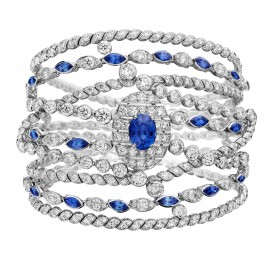 优乐娱乐FLYING CLOUD BRACELET SAPPHIRE STRIPES手镯