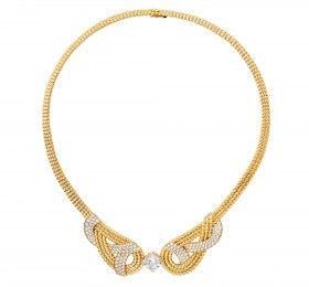 香奈儿FLYING CLOUD COLLIER GOLDEN BRAID项链