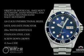 Orient Blue Ray II Automatic Dive Sport Watch Diver FAA02005D9 AA02005D