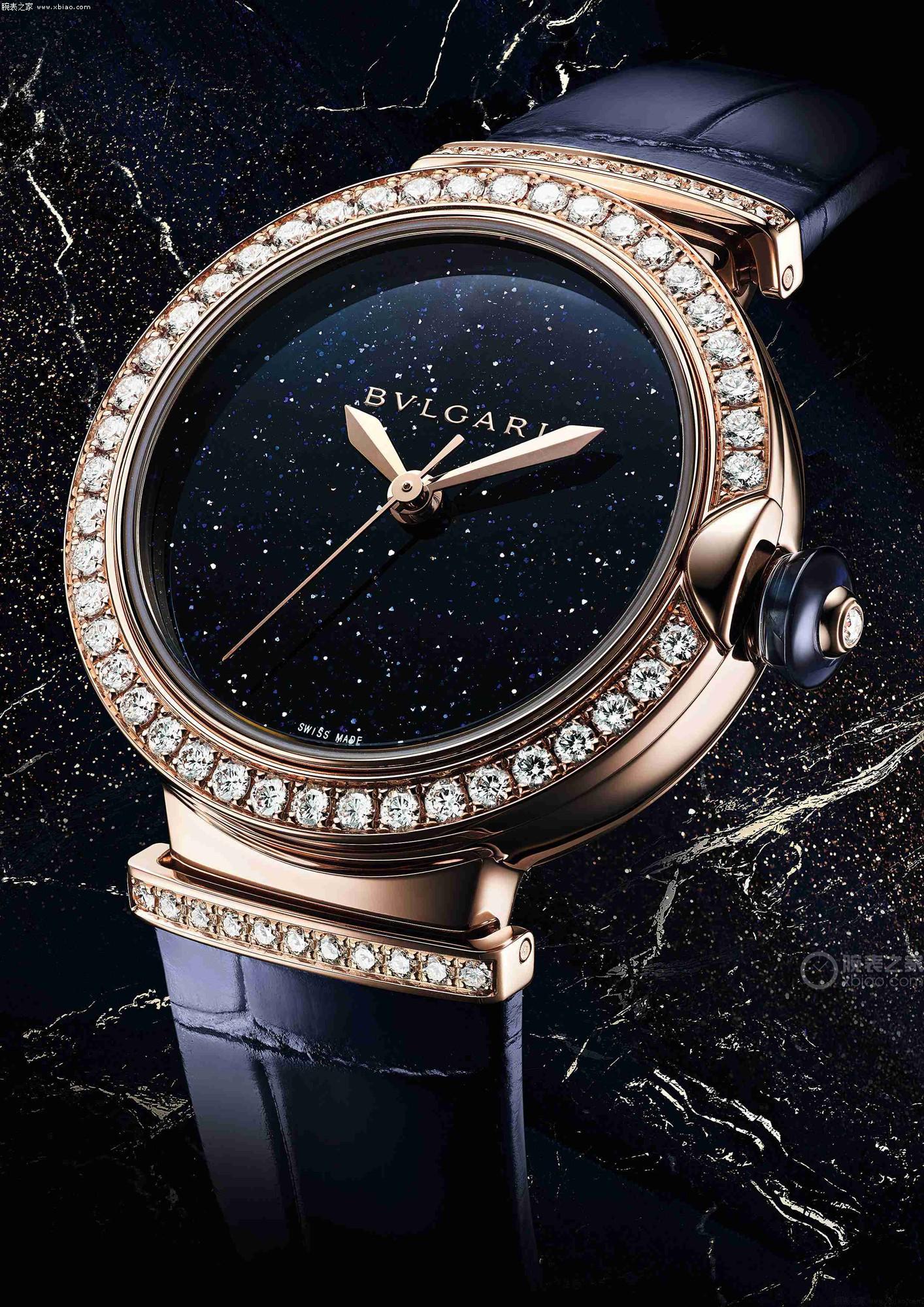 きらきら光る芳と華、ブルガリスーパーコピーLVCEAシリーズAventurine砂金石の腕時計